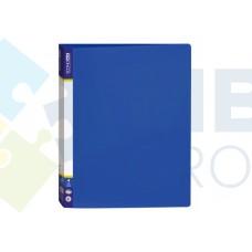 Папка пластиковая А4 Economix на 4 кольца, синяя