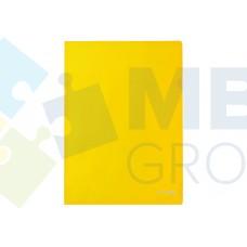 "Папка-уголок А4 Economix, фактура ""глянец"", желтая"
