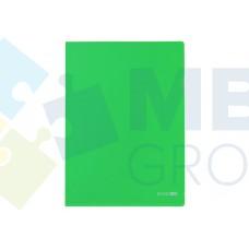 """Папка-уголок А4 Economix, фактура """"глянец"""", зеленая"""