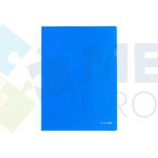 """Папка-уголок А4 Economix, фактура """"глянец"""", синяя"""