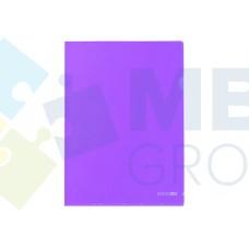 """Папка-уголок А4 Economix, фактура """"глянец"""", фиолетовая"""
