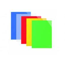 Папка-уголок А4 с отделением для визиток Economix, зеленая