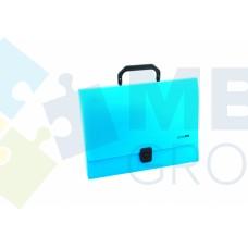 Портфель пластиковый A4 Economix на застежке, 1 отделение, синий