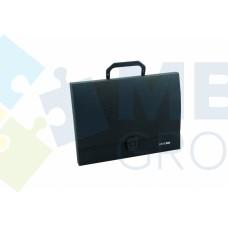 Портфель пластиковый A4 Economix на застежке, 1 отделение, черный