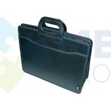 Портфель пластиковый В4 Optima на 3 отделения, черный