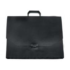 Портфель пластиковый A3 Economix на застежке, 1 отделение, черный