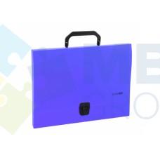 Портфель пластиковый A4 Economix на застежке, 1 отделение, фиолетовый