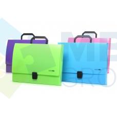 Портфель пластиковый A4 Economix на застежке, 1 отделение, голубой