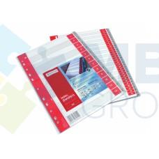 Разделитель листов А4 Optima, пластик, 12 разделов, цифровой