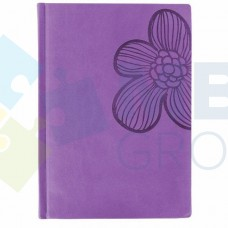 """Визитница Optima Vivella """"Цветок""""на 90 визиток, искусственная кожа, сиреневая"""