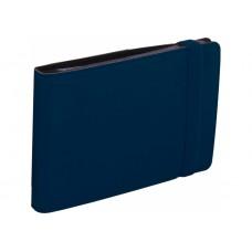 Визитница Optima Vivella на 20 визиток, искусственная кожа, темно-синяя