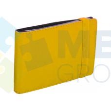 Визитница Optima Vivella на 20 визиток, искусственная кожа, желтая
