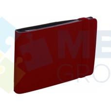 Визитница Optima Vivella на 20 визиток, искусственная кожа, бордовая
