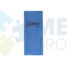 Визитница Economix на 128 визитки с впаянными файлами, пластик, ассорти