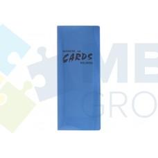 Визитница Economix на 256 визитки с впаянными файлами, пластик, ассорти