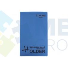 Визитница Economix на 96 визитки с впаянными файлами, пластик, ассорти