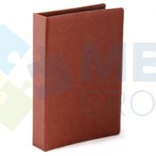 Визитница Optima Nebraska на 90 визиток, искусственная кожа, коричневая