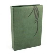 "Визитница Optima Vivella ""Волна"" на 90 визиток, искусственная кожа, зеленая"