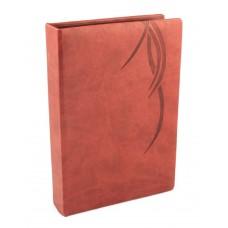 """Визитница Optima Vivella """"Волна"""" на 90 визиток, искусственная кожа, коричневая"""