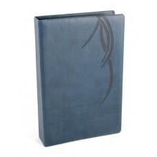 """Визитница Optima Vivella """"Волна"""" на 90 визиток, искусственная кожа, темно-синяя"""