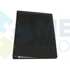Визитница Optima А4 на 400 визиток, искусственная кожа, черная