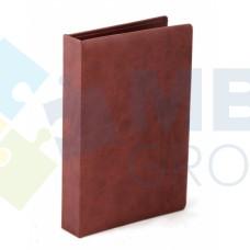 Визитница Optima Vivella на 90 визиток, искусственная кожа, коричневая