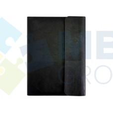 Бизнес-организатор на молнии с клапаном Optima, 184 x 260 мм, на кольцах, черный
