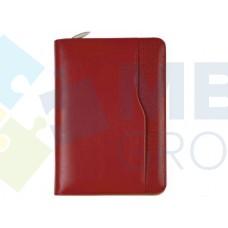 Бизнес-организатор на молнии Optima, 184 x 260 мм, на кольцах, красный