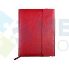 Бизнес-организатор на молнии с клапаном Optima, 184 x 260 мм, на кольцах, красный
