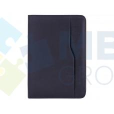Бизнес-организатор на молнии Optima, 184 x 260 мм, на кольцах, синий