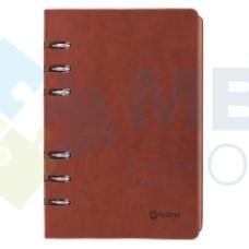 Бизнес-организатор Optima, 135 x 185 мм, на кольцах, коричневый