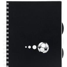 """Блокнот Economix """"Футбол"""" В5, 150 л., с 4 разделителями, боковая спираль"""