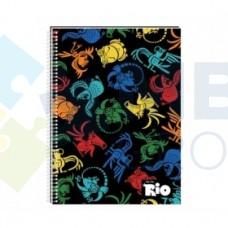"""Блокнот Cool for school, А5, 48 л., серия """"Rio"""", боковая спираль, ассорти"""