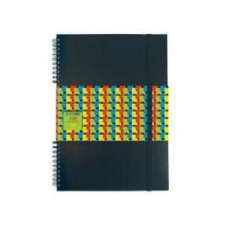 Блокнот Economix, А4, 100 л., боковая спираль, на резинке, черный