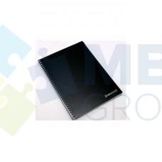 Блокнот Format, A4, 48 л., боковая спираль, черный