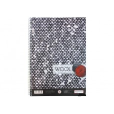"""Блокнот Optima """"Рисунки природы"""" Wool, А4, 80 л., боковая спираль"""