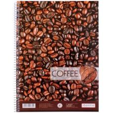 "Блокнот Optima ""Рисунки природы"" Coffee, А4, 80 л., боковая спираль"