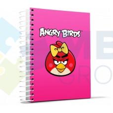 """Блокнот Cool for school, В5, 150 л., серия """"Angry Birds"""", боковая спираль, розовый"""