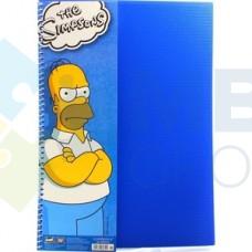 """Блокнот Cool for school, А4, 80 л., серия """"Simpsons"""", боковая спираль, синий"""