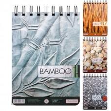 """Блокнот Optima """"Рисунки природы"""" Bamboo, А5, 80 л., верхняя спираль"""