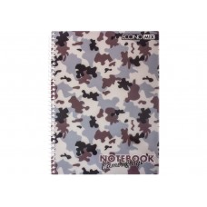 "Блокнот Economix ""Camouflage"", А5, 48 л., боковая спираль, ассорти"