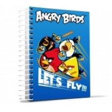 """Блокнот Cool for school, А5, 48 л., серия """"Angry Birds"""", боковая спираль, синий"""