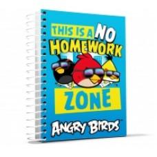 """Блокнот Cool for school, А5, 48 л., серия """"Angry Birds"""", боковая спираль, голубой"""