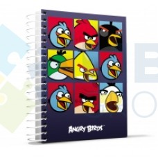 "Блокнот Cool for school, А4, 80 л., серия ""Angry Birds"", боковая спираль, серый"