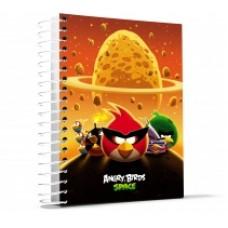 """Блокнот Cool for school, А4, 80 л., серия """"Angry Birds"""", боковая спираль, оранжевый"""