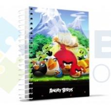 """Блокнот Cool for school, А4, 80 л., серия """"Angry Birds"""", боковая спираль, зеленый"""