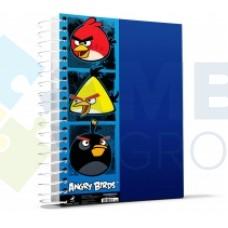 """Блокнот Cool for school, А4, 80 л., серия """"Angry Birds"""", боковая спираль, синий"""