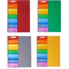 """Блокнот Optima """"Rainbow"""", А4, 80 л., боковая спираль, ассорти"""