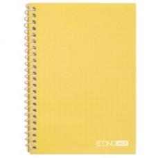 Блокнот Economix, А5, 80 л., боковая спираль, желтый