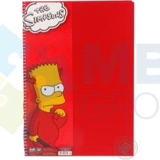 """Блокнот Cool for school, А4, 80 л., серия """"Simpsons"""", боковая спираль, красный"""